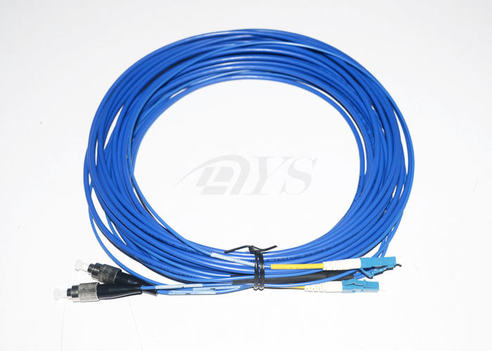 Çin Low Insertion Loss Value Optical Fiber Patch Cord FC - LC Duplex For Local Area Networks Tedarikçi